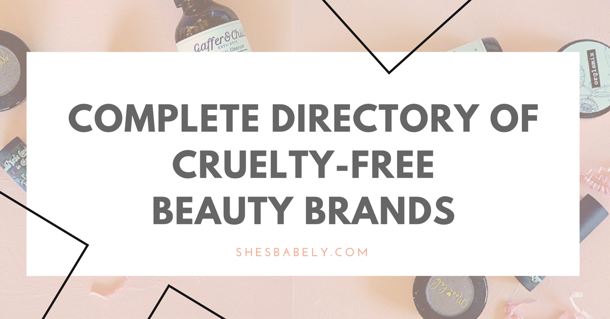 Complete Directory Of Cruelty-Free Beauty Brands